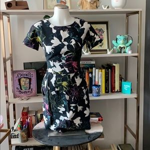 French Connection Cotton Floral Sheath Dress